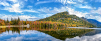 Echo Lake Panorama, White Mountains, Fall 2019