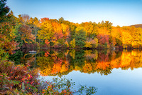 Summer's End, Fall at Cunningham Pond, Peterborough, NH 2019