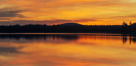 Fall Sunset Panorama, Lake Massabesic, Manchester, NH