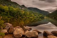 Reflections on Echo Lake, Franconia Notch, White Mountains