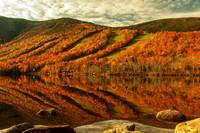 Echo Lake and Cannon Mountain, Franconia Notch, White Mountains, NH